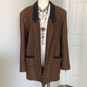 Vintage Boyfriend Bagatelle Tweed & Leather M or L